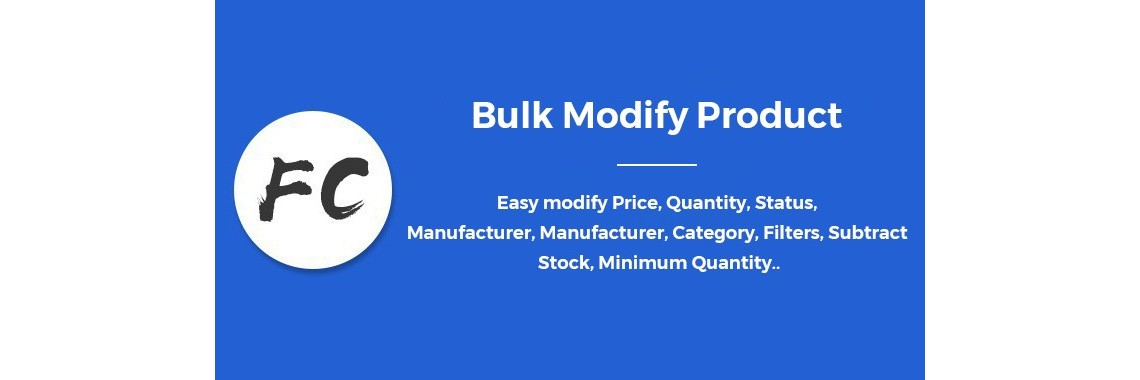 Bulk Modify Product